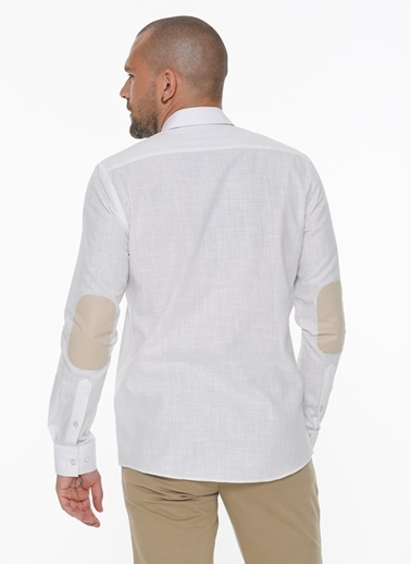 Beymen Business 4B2020200003 Slim Fit Gömlek Baskılı Beyaz